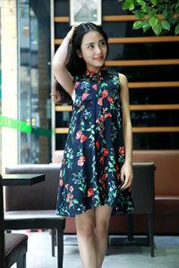 Ladies′ Viscose Dress