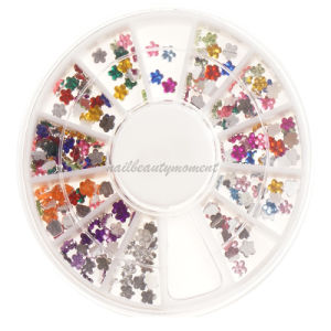 Art Nail Manicure Beauty Flower Rhinestone Wheel Decoration Products (D74)