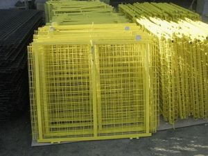 Green/Yellow High Quality Temporary Fence pictures & photos