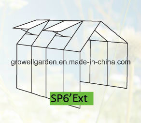 Extendable Multi-Span Walk -in Polycarbonate Greenhouses (SP6′ EXT) pictures & photos
