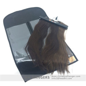 Extension Hair and Clips in Hair Hanging Hanger, Wooden Hair Hanger pictures & photos