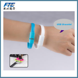 Wholesale Silicone USB Bracelet Micro USB Cable pictures & photos