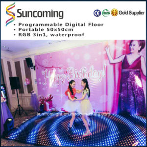P62.5 Video Slim and Portable White LED Dance Floor pictures & photos