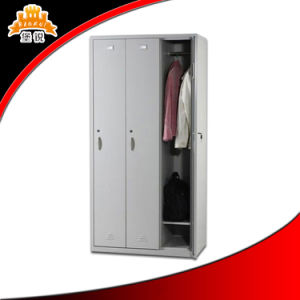 Factory Direct Sale 3-Door Steel Locker with Cloth Hanger and Shelf pictures & photos