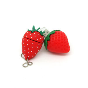 New Fashion Strawberry USB Flash Drive 1GB 2GB 4GB 8GB 16GB 32GB Fruit Pen Drive Cartoon Pendrive 100PCS/Lot pictures & photos