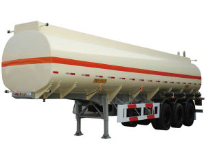 50000L Oil Tanker Semitrailer 3 Axles Fuel Tank Trailer