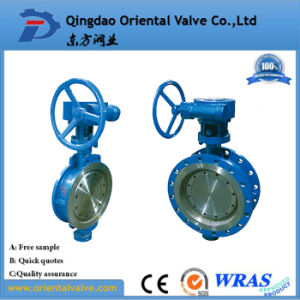 Cast Iron EPDM Seated Wafer Butterfly Valve with Seat Ring pictures & photos