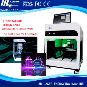 High Frequency 3D Photo Inside Crystal Mini Portable 3D Laser Engraving Machine Price pictures & photos