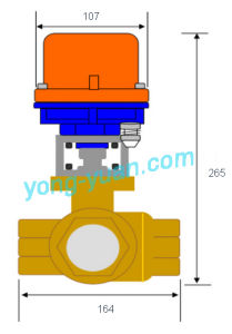 Dn50 3-Way Brass Motorized Ball Valve L/T Type (BS-898-50S-2) pictures & photos