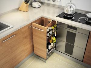 E1 Grade Melamine Board Modular Kitchen Furniture in Baking Finish (zg-040) pictures & photos