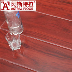 Classic Glossy Surface (Great U-Groove) Laminate Flooring (AK6801) pictures & photos
