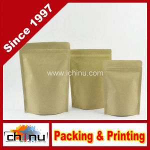 Stand up Aluminum Coated Kraft Paper Bag with Zipper Top for Dried Food Nuts Tea Packaging (220123) pictures & photos