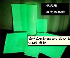 Photoluminescent Glow Inkjet Print Adhesive Vinyl Film