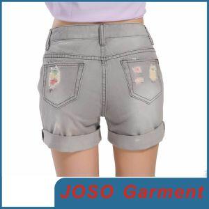 Lady Destroy Denim Shorts (JC6001) pictures & photos
