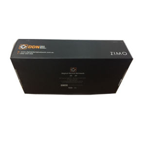 Black Matt Finished Corrugated Box with UV Embossed Logo pictures & photos