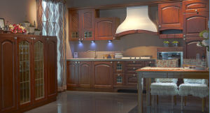 PVC Door Living Room Furniture Made in China Kitchen Cabinet (zc-080) pictures & photos