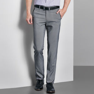 Bespoke High Quality Men′s Dark Grey Dress Pants/Trousers pictures & photos