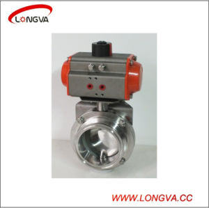316 Stainless Steel Pneumatic Tri Clover Butterfly Valve pictures & photos