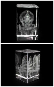 3 Inches Crystal Ganesha (Aasan) for Hindu (R3015) pictures & photos