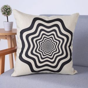Digital Print Decorative Cushion/Pillow with Geometric Pattern (MX-64) pictures & photos