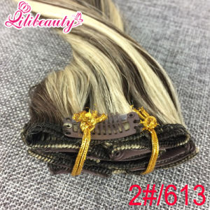 Natural Ombre Clip in Hair Extensions pictures & photos