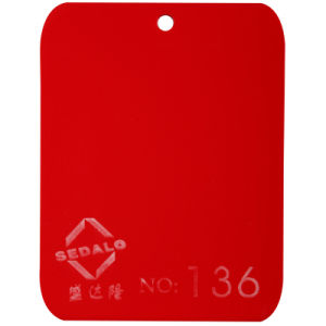 Red Cast Acrylic Sheet (SDL-136) pictures & photos
