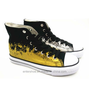 High Cut Printed Canvas Sneaker for Men and Women (ET-YH170454W) pictures & photos