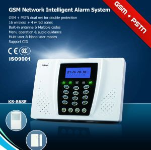 Wireless GSM and PSTN Dual Network Alarm System