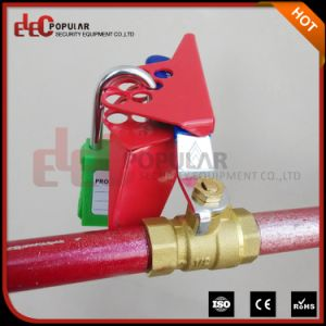 Ce Certificated Single Piece Red Color Ep-8209 Ball Valve Lockout pictures & photos