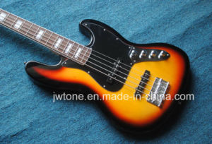 5string Sunburst Color Jazz Electric Bass Guitar pictures & photos