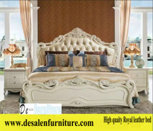 New Arrival Royal Bed, Leather Bed, French Style Bed, Europe Bed (L096) pictures & photos