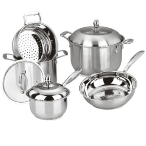 No Stick Sttainless Steel Cookware (WSP-021) pictures & photos