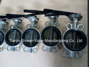 Stainless Steel Wafer Butterfly Valve with Handle pictures & photos