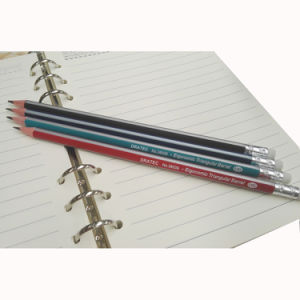 Triangle Pencils Hb with Stripe Painting and Eraser Tip (3615) pictures & photos