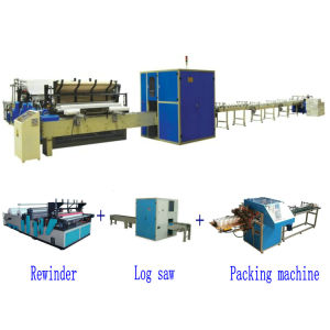 Full Automatic High Speed Small Toilet Paper Roll Making Machine Production Line pictures & photos