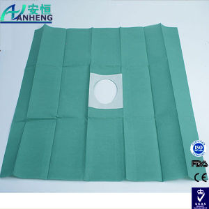 Surgery Adhesive Fenestrated Drapes Surgical Hole Towel pictures & photos