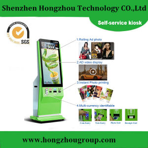 Coin Acceptor Touch Screen Self Service Kiosk Photo Booth Machine pictures & photos