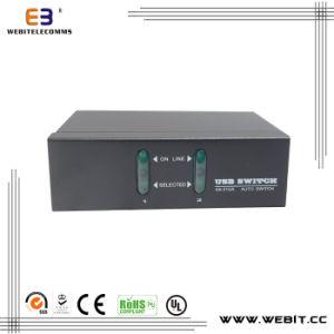 2 Port USB Kvm Switch/ VGA Switcher/ Kvm Switcher/Kvm Extender pictures & photos