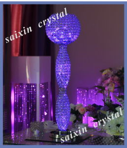 New Wedding Event Decor Crystal Centerpiece with LED Light Zt-126h