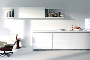 White 2 PAC Paint High Gloss Kitchen Cabinet