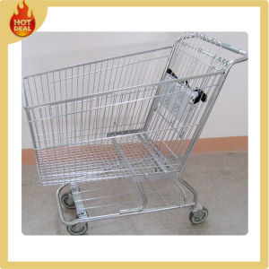 Steel Supermarket Germany Shopping Cart with 4 Wheels pictures & photos