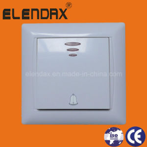 EU Style Flush Mounted LED Doorbell Wall Switch (F6106) pictures & photos