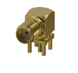 SMA Right Angle PCB Mount Female Connector