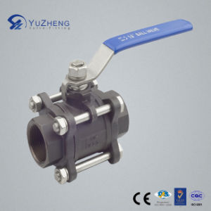 3PC Carbon Steel Ball Valve in NPT Thread pictures & photos