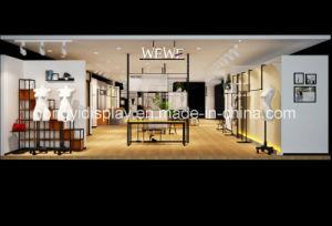 Lady Clothes Rack Shop Fittings/Clothes Shop Shelf Equipment pictures & photos