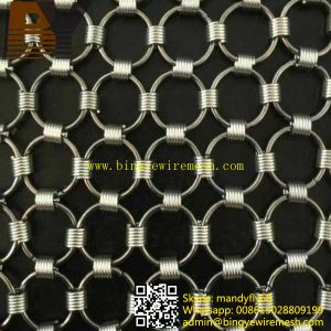 Decorative Ring Metal Curtain for Hotel Curtain pictures & photos