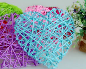Heart Christmas Decoration 2cm Color Rattan Ball pictures & photos
