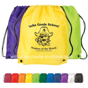 Nylon Personalized Drawstring Backpacks (PM025) pictures & photos
