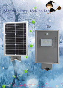 8W Integrated Solar Power Street Light All in One Solar Street Light pictures & photos
