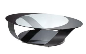 (CJ-169) Home Furniture Oval Tempered Glass Coffee Table pictures & photos